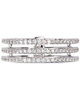 'gatsby 3 Rows' Diamond 18k White Gold Ring