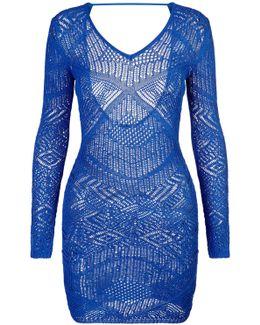 Short Viscose Knit Dress