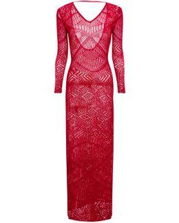 Long Viscose Knit Dress