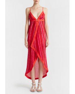 Striped Dress In Seersucker Cotton