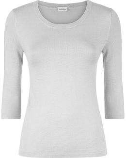 Stretch Silk 3/4 Sleeve Top