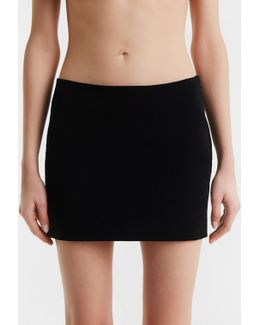 Bi-stretch Cotton Mini Skirt