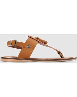 Gayton Tassels Toe-post Sandals