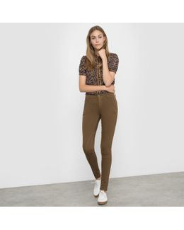 Skinny Trousers With Stylish Inset