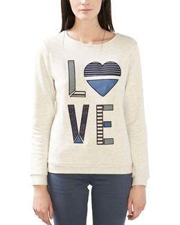Love Embroidered Sweatshirt