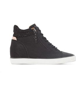 Star Wedge High Top Trainers