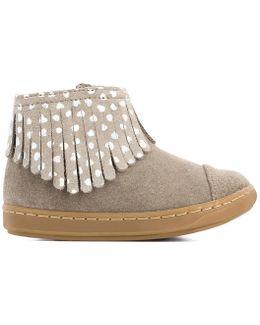 Boots À Franges Cuir Bouba Fringe