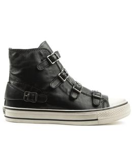 Virgin Bis Black Leather High Top Trainer