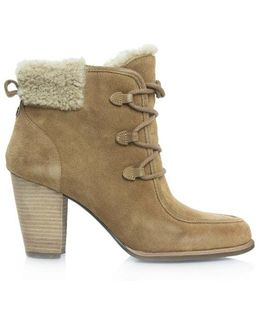 Ugg Australia Analise Chestnut Suede Lace Up Hiker Ankle Boot