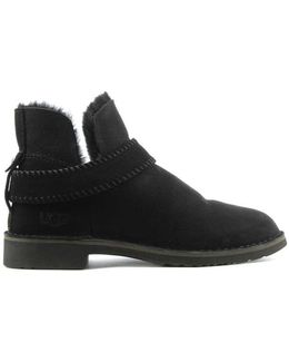 Ugg Australia Mckay Black Leather Twinface Ankle Boot