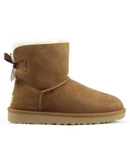 Ugg Australia Mini Bailey Bow Ii Chestnut Twinface Boot