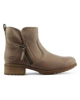 Ugg Australia Lavelle Camel Leather Zipper Ankle Boot