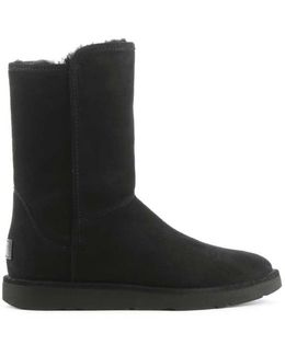 Ugg Australia Abree Short Ii Black Suede Ankle Boot