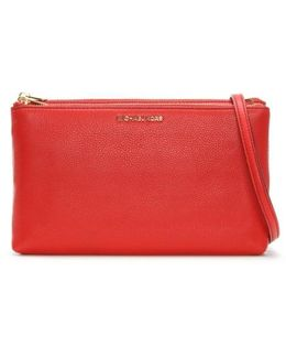 Adele Gusset Bright Red Leather Cross-body Bag