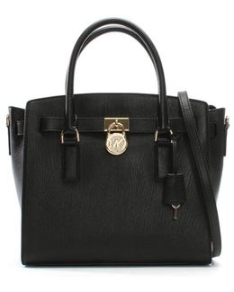 Hamilton Black Leather Satchel Bag
