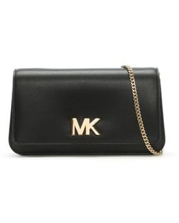 Mott Black Leather Large Clutch Bag