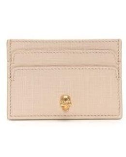 Nude Textured Leather Card Holder