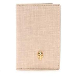 Nude Textured Leather Pocket Organiser