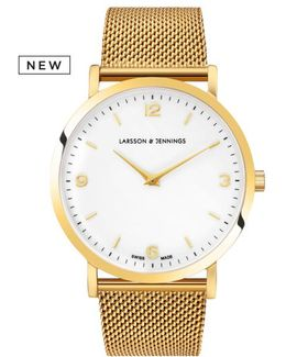 Lugano Classic Chain Watch Gold And White 38mm