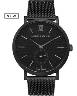 Lugano 40mm Mechanical Black Designer Watch.