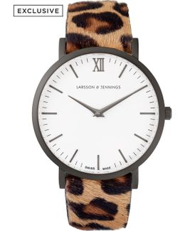 Lugano 40mm Leopard Print Designer Watch