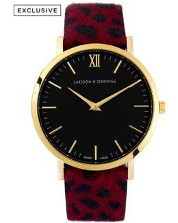 Lugano 40mm Dalmation Print Designer Watch