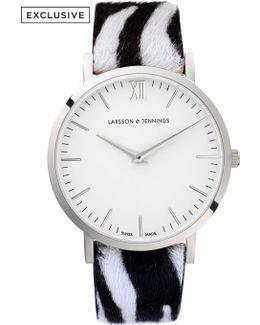 Lugano 40mm Zebra Print Designer Watch