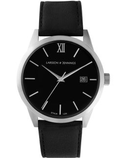 Saxon Automatic Aiv Black And Silver Mechanical Watch