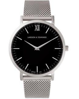 Silver & Black Watch