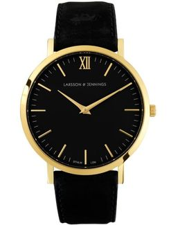 Classic Black And Gold Watch
