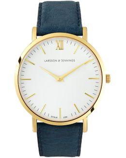 Lugano 40mm Cyan Blue Designer Watch