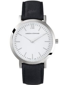 Ladies Lugano Watch Black And Silver Classic 33mm