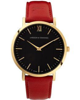 Lugano 40mm Red Designer Watch