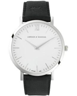 Classic Black And Silver Watch