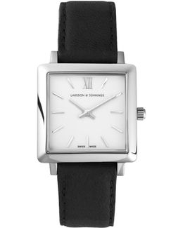 Norse 27x34mm Black And Silver Square Watch