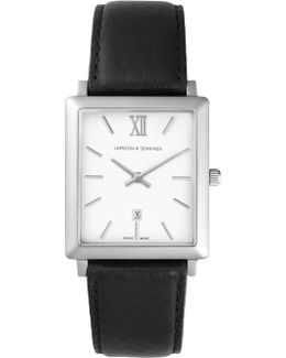 Norse 29x40mm Black And Silver Square Watch