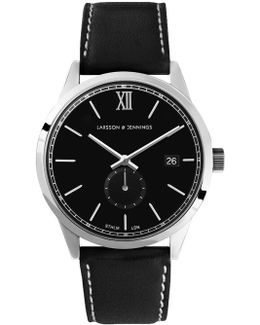 Saxon Si Black And Silver Classic Watch
