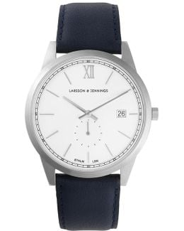 Saxon Sii Navy And Silver Classic Watch