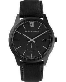 Saxon Watch Black Matte Classic 39mm