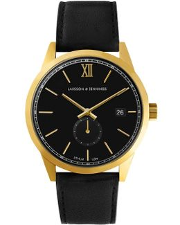 Saxon S Iv Black And Gold Classic Watch