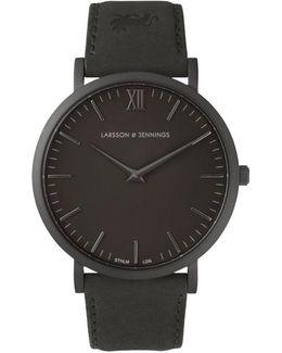 Lugano 40mm Black Designer Watch