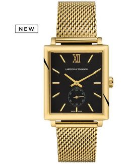 Norse 42mm Mechanical Gold And Black Designer Watch.