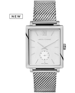Norse 42mm Mechanical Silver And White Designer Watch.