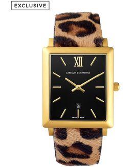 Norse 42mm Leopard Print Designer Watch