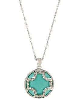 Turquoise Maltese Pendant Necklace