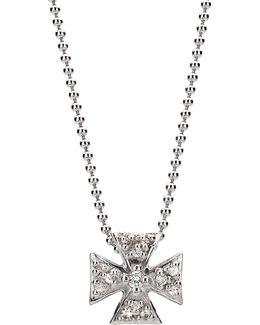 Mini Maltese Pave Pendant Necklace