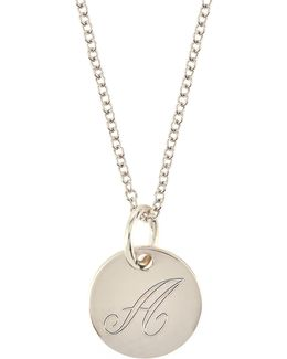 Sterling Silver Customizable Charm Necklace