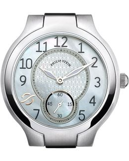 Round Mother-of-pearl & Stainless Steel Watch Head