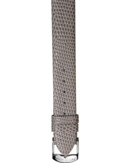 12mm Lizard-embossed Leather Watch Strap