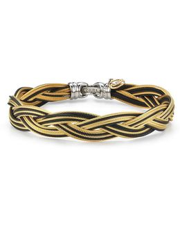 Braided Stainless Steel Micro-cable Bracelet